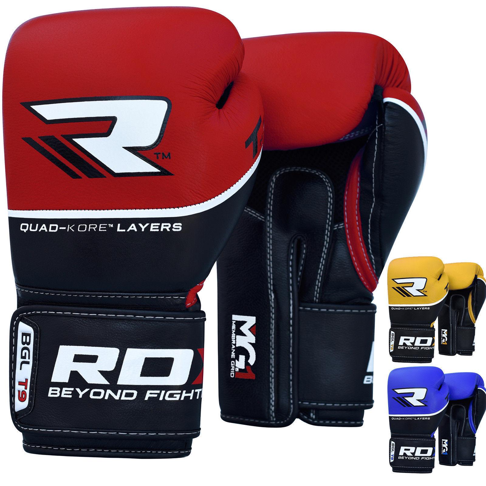 RDX QUAD-KORE Leather Boxing Glove